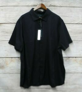 Perry-Ellis-Shirt-Mens-Size-2X-Dark-Sapphire-Travel-Luxe-Button-Down-Stretch-New