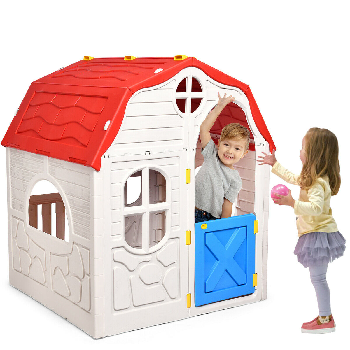 Baby Children Indoor Outdoor Playset Fun Toy Doll Bear Playhouse Play Tent
