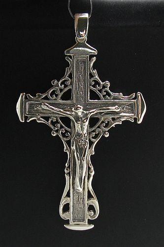 Sterling Colgante de plata de ley 925 maciza Cruz Nuevo