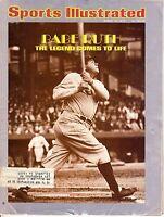 1974 (3/18) Sports Illustrated, Baseball magazine,Babe Ruth, New York Yankees~Fr