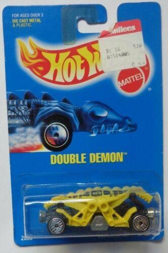 Yellow//Black 1992 Hot Wheels Double Demon Col Ultra Hot Hub Wheels #199