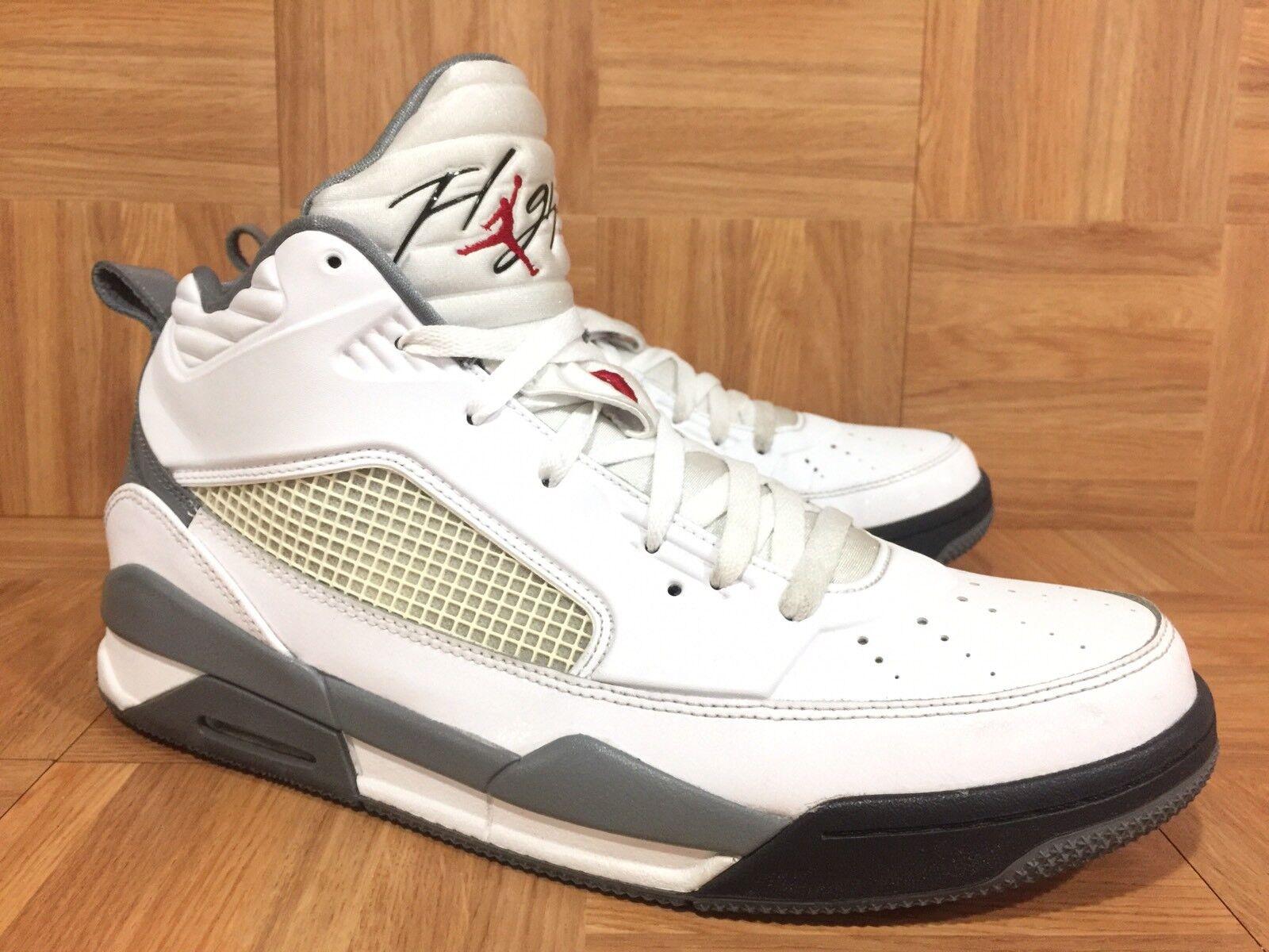 RARE Nike Air Jordan Flight 9.5 White Gym Red 654262-102 Sz 13