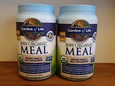 Lot of(2) Garden of Life Raw Meal Vanilla 34.2 oz. Not Recalled Gluten FREE