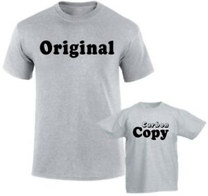 a5dc3063516d5 Details about Original Carbon Copy Dad and son Mom and Daughter Family  Matching T shirts