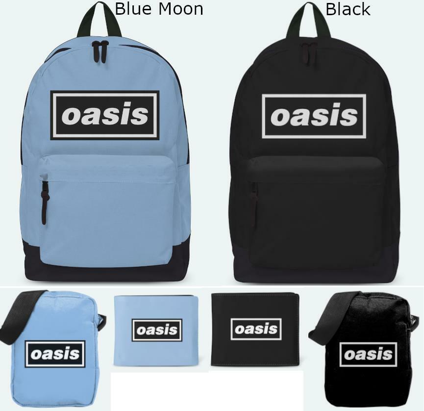 Rocksax Oasis Bags Backpack Ruck Sack Cross Body Bag Wallet 100% Official Merch