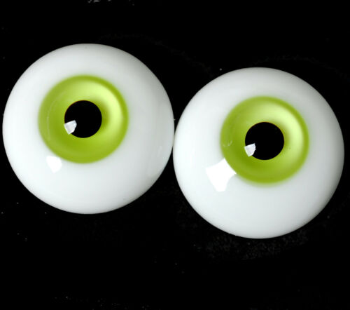 Good Thickened FlatBack Glass 20mm yellow-green BJD Eyes for Reborn BJD Doll