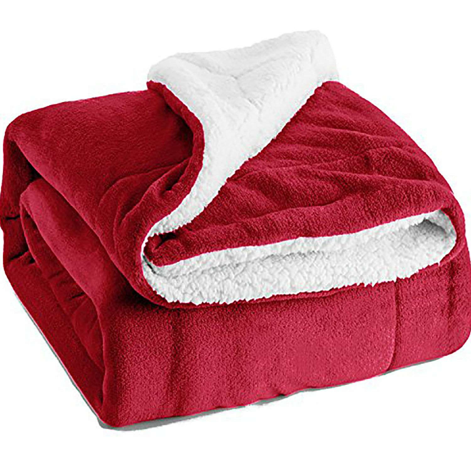 Sherpa Hot Winter Fluffy Warm Soft Plush Solid color Roll-up Throw Home Blankets