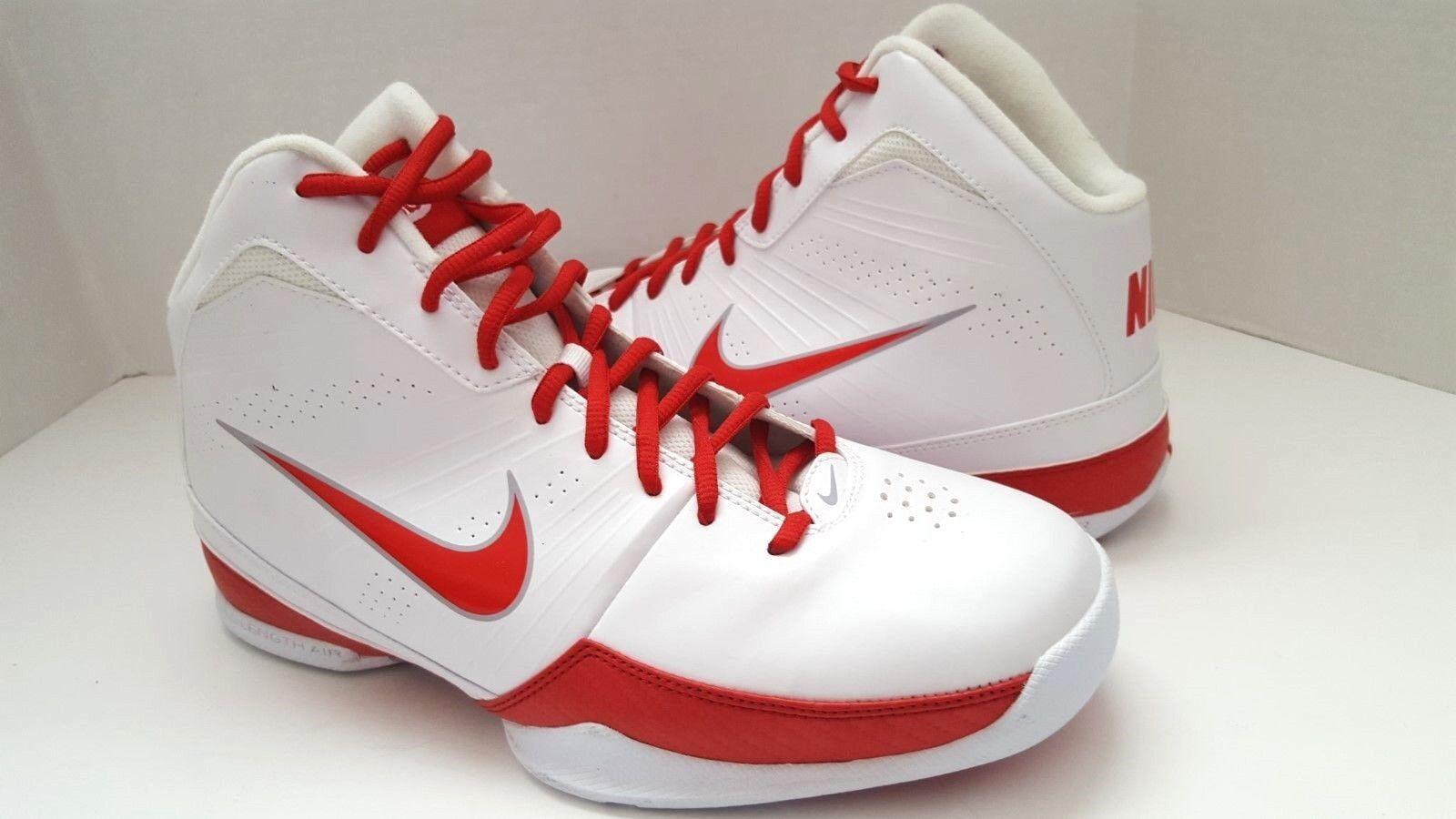 New Nike 472633-104 Uomo White/Red Basketball Shoes Sz 9