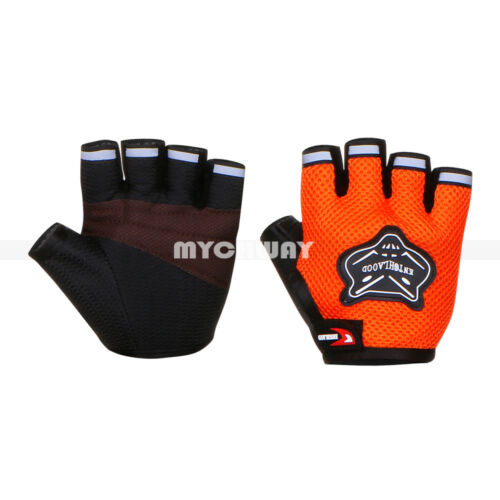 Men Racing Cycling Motorcycle Bike Bicycle Half Finger Gloves Adult//Kids Gloves