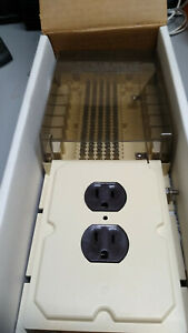 EDCO Mod 12 66 punch down block with AC Power outlet and grounding points