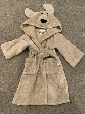 Restoration Hardware Kids Toddler Hooded Robe 2y 3y Brown