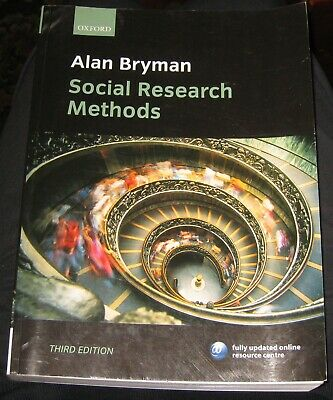 Prof Alan Bryman Social Research Methods 3rd Edition Oxford University Press 9780199202959 Ebay