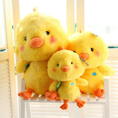 Cute yellow chicken plush toy stuffed doll Q Chick fowl lover birthday gift 1pc