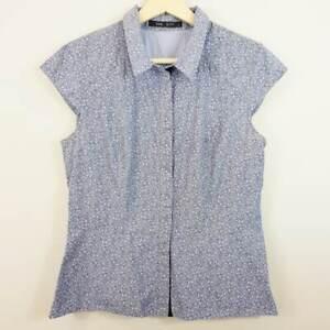 CUE-CITY-Womens-Print-Shirt-Top-Size-AU-10