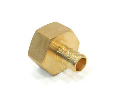 """25 1//2/"""" x 1//2/"""" PEX BRASS FEMALE NPT THREADED ADAPTER Barbed Fitting Water Line"""