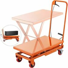 500lbs Adjustable Height Table Cart Hydraulic For Factories Warehouses Delivery