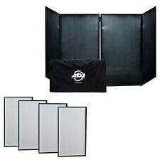 American DJ Light Weight Metal Frame Event Facade Booth w Black+White Scrim