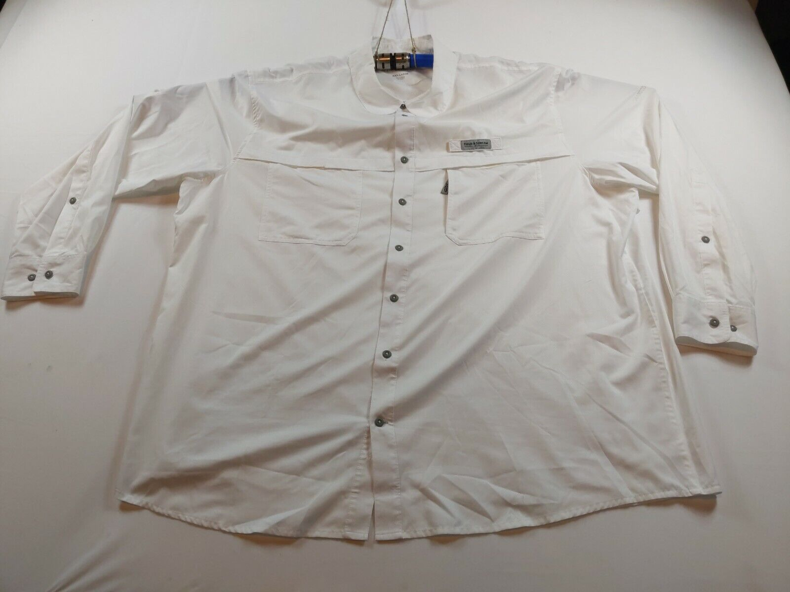 Field and Stream 3XL Long Sleeve White Smart Cool Vented Fishing Shirt