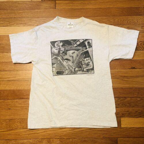 vintage t shirt 90s large mc escher