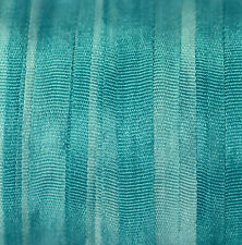 4mm Silk Ribbon 100% Pure Blue Embroidery Hand Dyed Dark Turquise - 3mtr