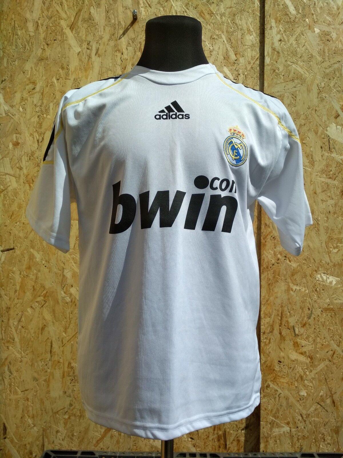 Vintage Football Mens Adidas T-Shirt Short Seleeve Ronaldo Real Madrid Size L