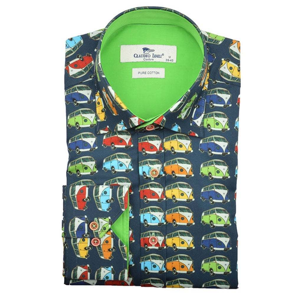 Claudio Lugli Camper Van Print Mens Shirt CP6187