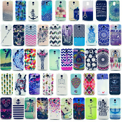 Phone Soft Back Skin TPU Case Cover Various Pattern for Samsung Galaxy Protector