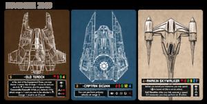 Anakin Skywalker Old Teroch Oicunn X-wing FFG Star Wars PLR Alternate Art Card