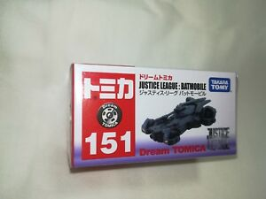 TAKARA-TOMY-Dream-TOMICA-Batmobile-Justice-league-No-151-Batman-Genuin-Japan