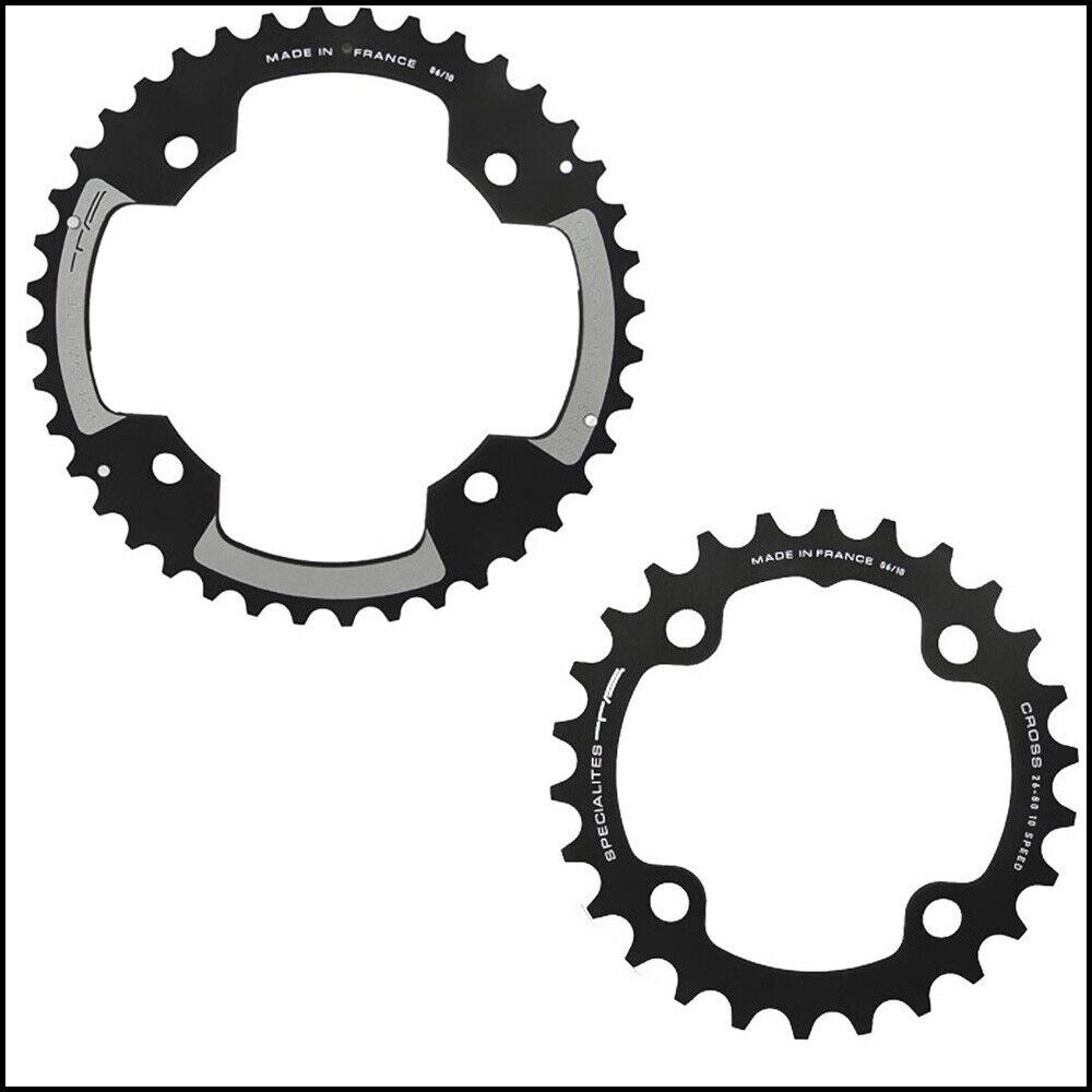 Specialites ta cadenas hoja Cross 26-44z. ø80-120mm negro bicicleta Piñón