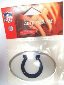 Indianapolis-Colts-NFL-Football-Emblem-Logo-oval-mit-Chromrand