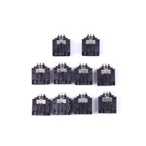 New-10-Pcs-3-Pin-PCB-Mount-Female-3-5mm-Stereo-Jack-Socket-Connector-FJ-T-MPLCA
