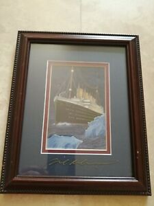 MAIDEN VOYAGE TITANIC PRINT SIGNED BY BEN RICHMOND PRINT ...