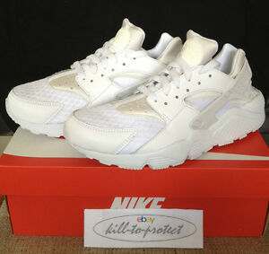 NIKE-HUARACHE-ALL-TRIPLE-WHITE-Sz-US-UK6-7-8-9-10-11-PURE-PLATINUM-OG-318429-111