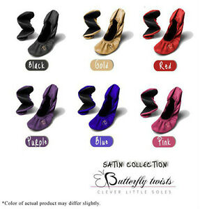 BUTTERFLY-TWISTS-SATIN-BALLERINA-FLATS-FOLDING-SHOES-NEW-SIZE-S-M-L