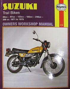 Haynes-Manual-0218-Suzuki-TC90-TS90-TC100-TS100-TC125-TS125-TC185-TS185-TS250