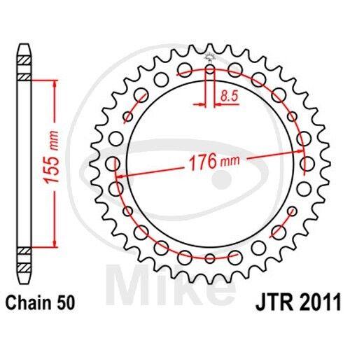 JT Kettenrad 45 Zähne Teilung 530 silber JTR2011.45