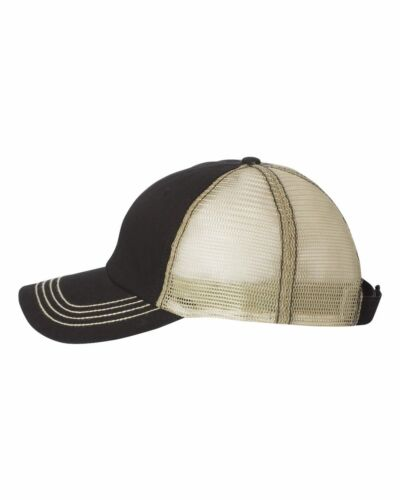 Mega Cap Washed Twill Trucker Cap 6894 Mesh Baseball Hat 5 Colors!