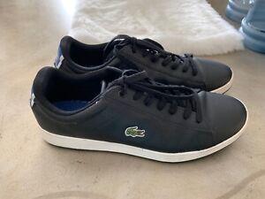 Men-039-s-Shoes-Lacoste-Fashion-Black-Sneakers-Size-US-12-EUR-46