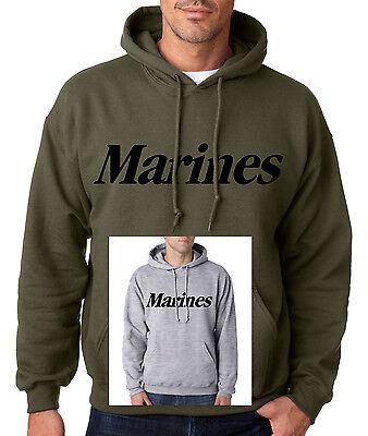 MARINES STANDARD HOODIE Usmc Hooded Sweatshirt Military Marine Corps Semper Fi