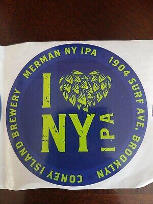 Coney Island Brewery craft beer brewing STICKER Brooklyn NY NYC Beach Beer
