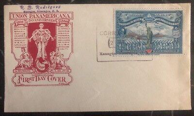 Briefmarken 1940 Managua Nicaragua Ersttagsbrief Fdc Pan American Union Erfrischend Und Wohltuend FüR Die Augen