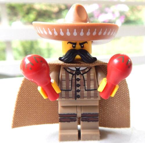 NEW LEGO MARIACHI MINIFIG maracas musician figure minifigure sombrero mexico