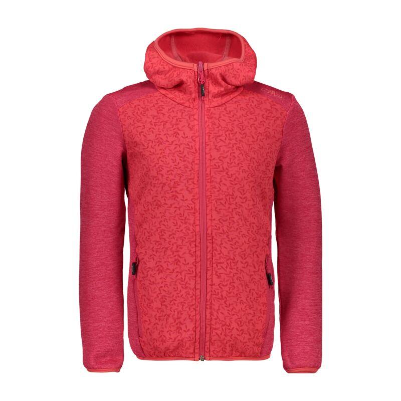 Reasonable Cmp Fleece Jacket Girl Jacket Fix Hood Red Breathable Elastic Warming