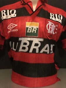 Image is loading Retro-Umbro-Flamengo-Home-Shirt-Umbro-Medium-Romario- f462e62b0