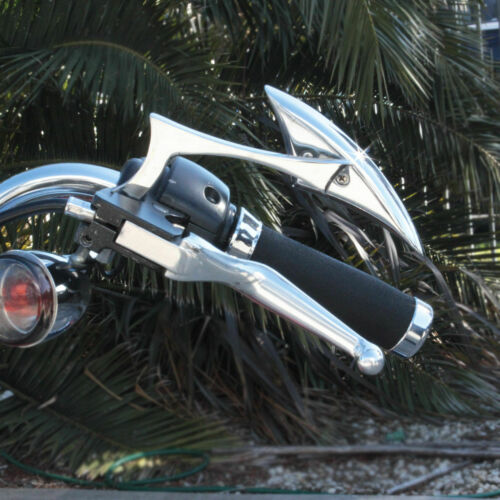 Custom Chrome Spear Rearview Mirrors For Yamaha Cruiser Virago 250 535 750 1100