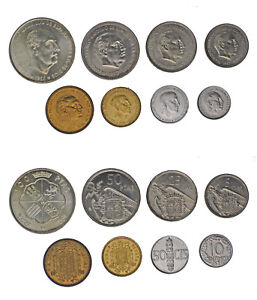 TIRA-FNMT-COMPLETE-SET-8-VALORES-FRANCO-1970-PROOF-LIKE-INTERESANTE