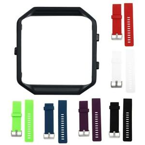 Black-Frame-Soft-Silicone-wrist-Watch-band-Replace-Sport-Strap-For-Fitbit-Blaze