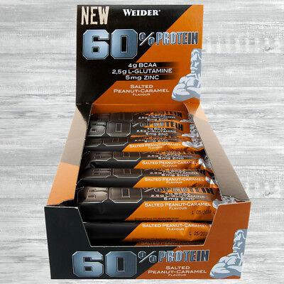 Weider 60% Protein Bar  24 x 45g Eiweiss Riegel  35,00 €/kg auch Mix möglich