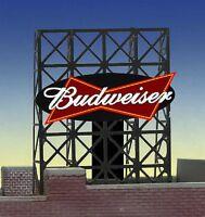 Budweiser Beer Animated Billboard 33-8815 Z Or N Scale Miller Engineering